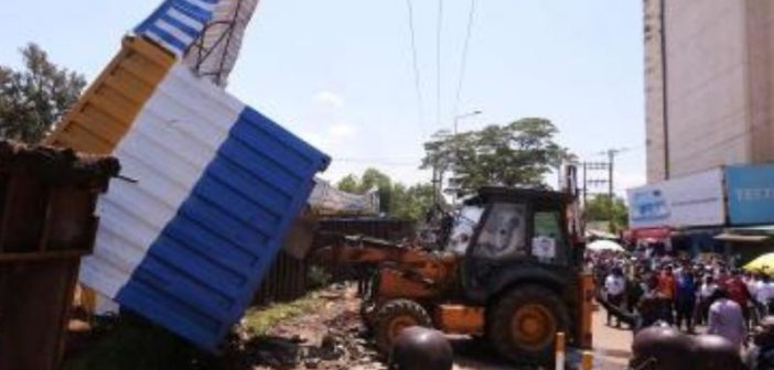 Containers pulled out in Kisumu